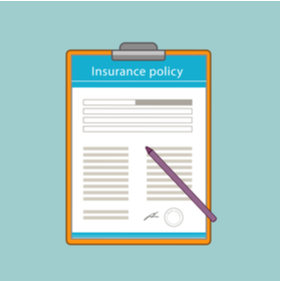 clipboard with insurance policy