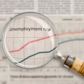 graph showing unemployment rate
